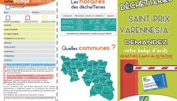 Badges d'accès pour les déchetteries à compter du 03/01/2022